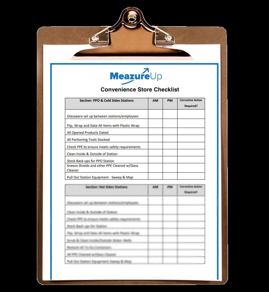 Convenience Store Checklist