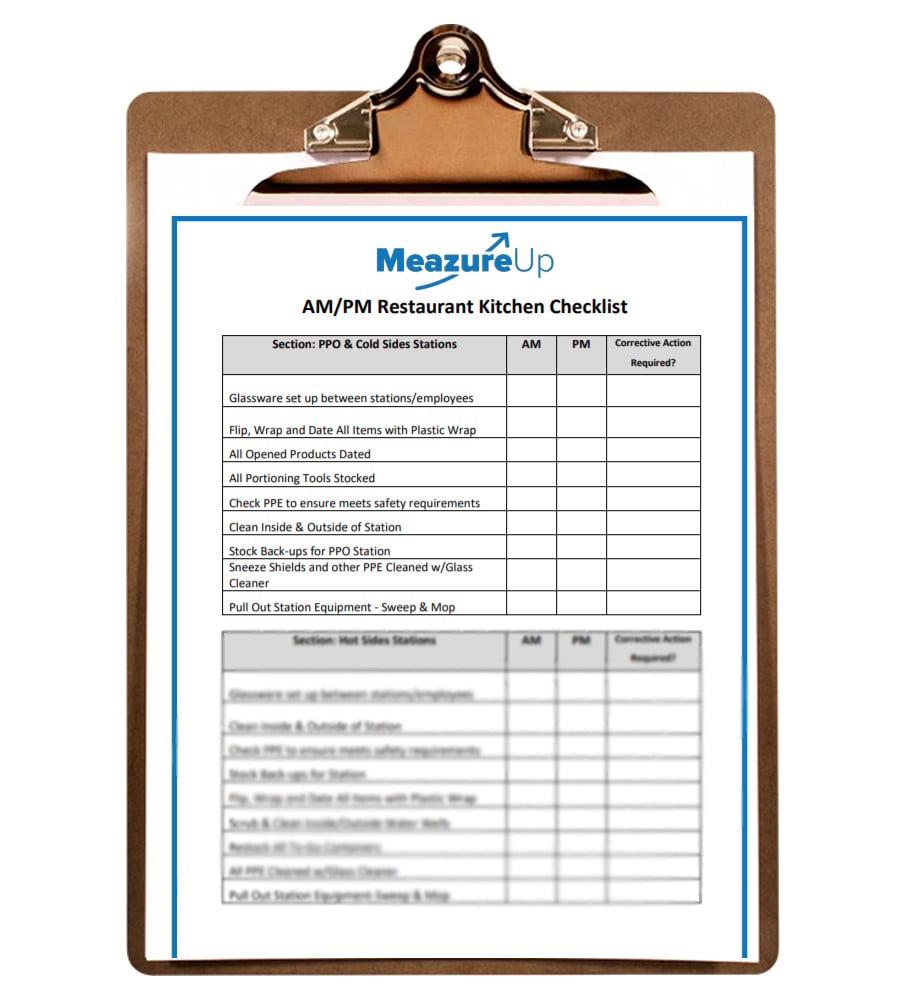 AM/PM Restaurant Kitchen Checklist